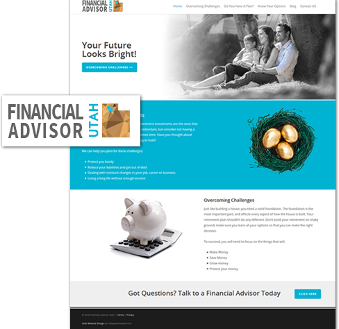 utah web design of financial advisor utah website