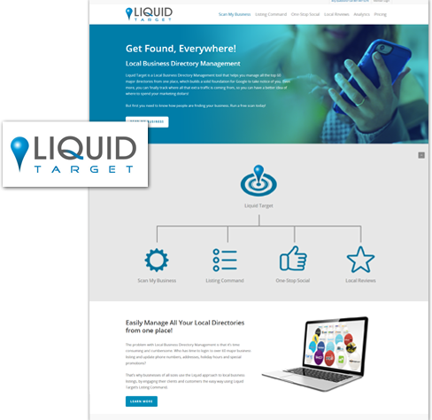 utah web design of liquid target website