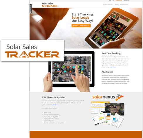 utah web design of solar sales tracker website