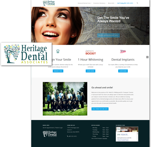 utah web design of syracuse dentist utah website